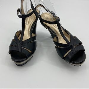 Antonio Melani Bianca block heel sandals black 9.5